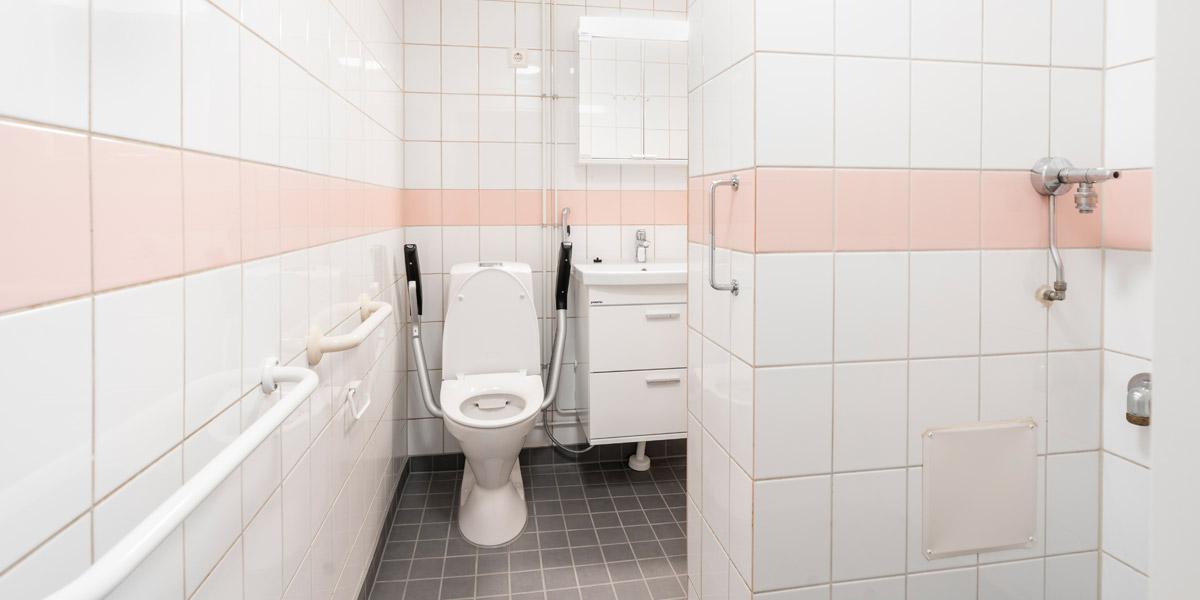 Lepolankadun senioritalon asunnon wc-tila