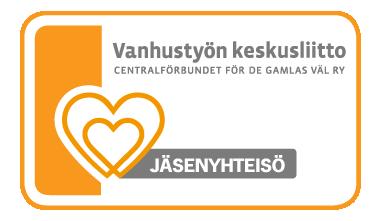 Vanhustyön keskusliiton jäsenyhteisön logo