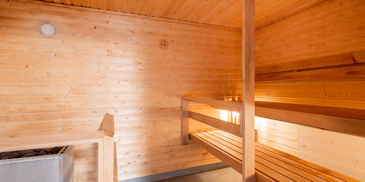 Hirsimetsäntien senioritalon sauna.