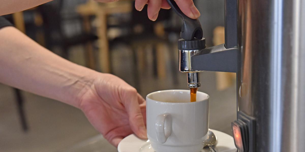 Ravintola Wanha Herran kahvi.